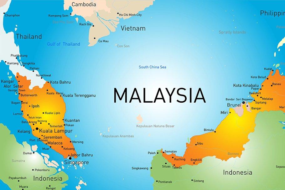 نقشه مالزی